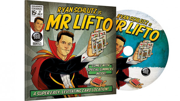 MR LIFTO - Rot - (DVD und Gimmicks) by Ryan Schlutz and Big Blind Media  - Kartentrick