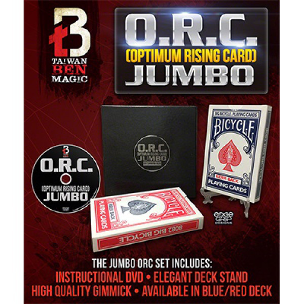 Optimum Rising Card O R C Jumbo Red by Taiwan Ben - Kartentrick