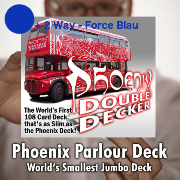 Phoenix Parlour Double Decker - Blau/Blau 2Way Force - Markierte Karten