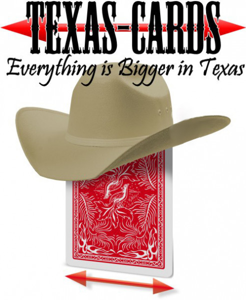 Phoenix Texas Deck - Wide - Red - Gaff Cards