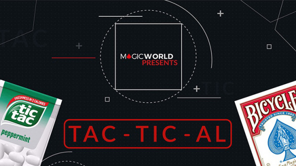 TACTICAL by Magicworld - Rot - Tic Tac Zaubertrick