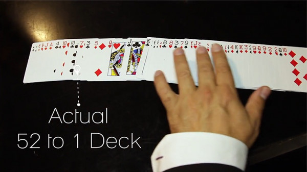 The 52 to 1 Deck by Wayne Fox and David Penn - Rot - Kartentrick