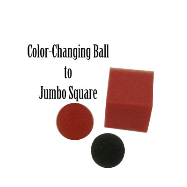 Ball to Square Mystery (Jumbo - Color Changing) - Magic by Gosh
