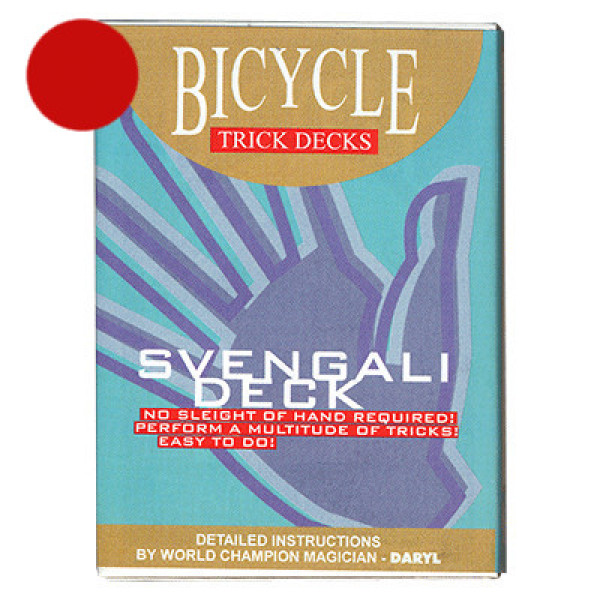 Svengali Deck Bicycle 809 Mandolin - Rot - Zaubertrick