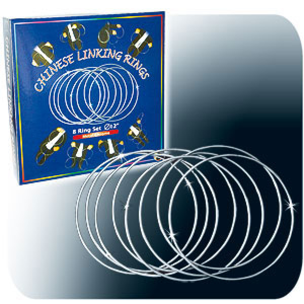 Chinese Linking Rings Chromed - 30 cm - Ringspiel Zaubertrick