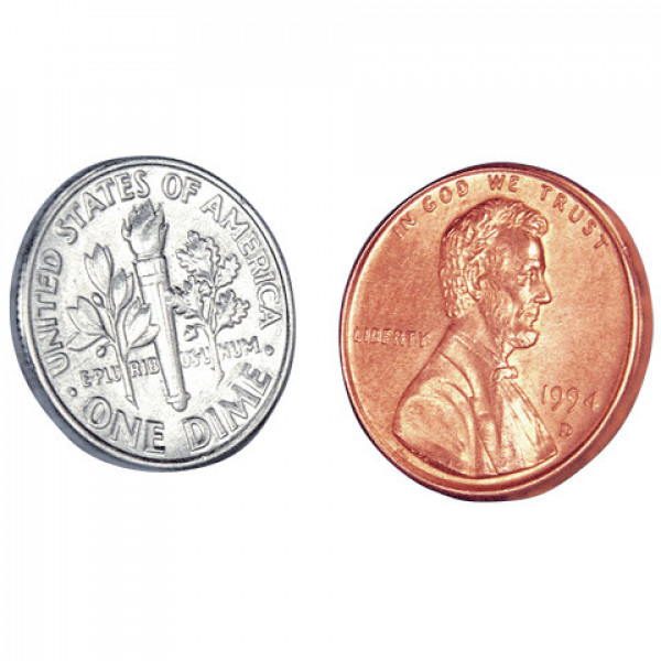Dime and Penny - Locking Coin - Münztrick