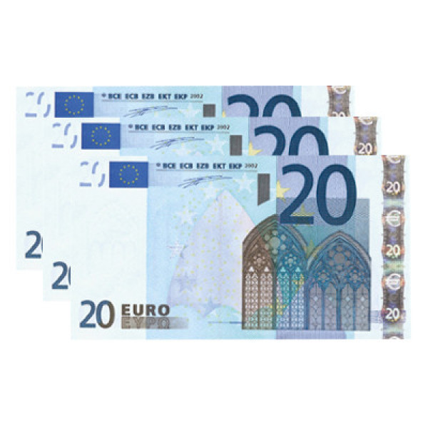 Pyrogeld - 20 Euro -  Flash Bill - Brennender Geldschein - Burning Money