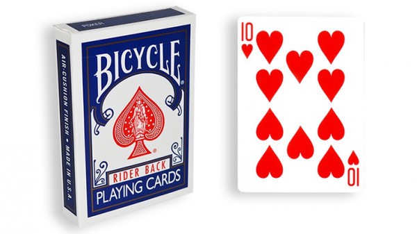 Force Deck - Blau - Herz 10 - Bicycle Forcierspiel - Forcing Cards - Forcierkarten
