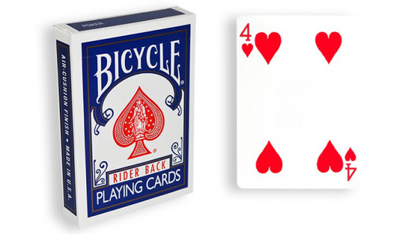 Force Deck - Blau - Herz 4 - Bicycle Forcierspiel - Forcing Cards - Forcierkarten