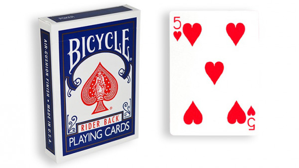 Force Deck - Blau - Herz 5 - Bicycle Forcierspiel - Forcing Cards - Forcierkarten