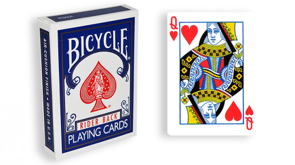Force Deck - Blau - Herz Dame - Bicycle Forcierspiel - Forcing Cards - Forcierkarten