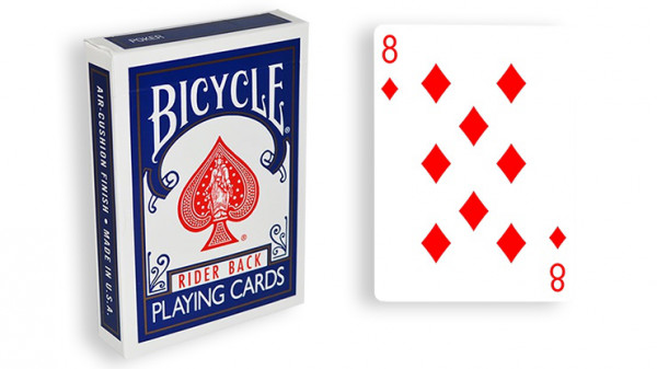 Force Deck - Blau - Karo 8 - Bicycle Forcierspiel - Forcing Cards - Forcierkarten