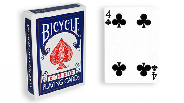 Force Deck - Blau - Kreuz 4 - Bicycle Forcierspiel - Forcing Cards - Forcierkarten