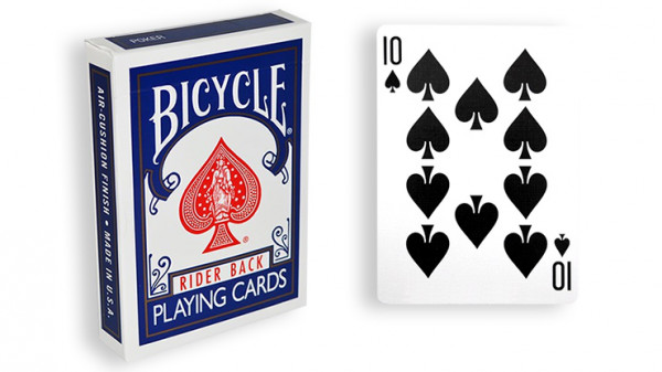 Force Deck - Blau - Pik 10 - Bicycle Forcierspiel - Forcing Cards - Forcierkarten
