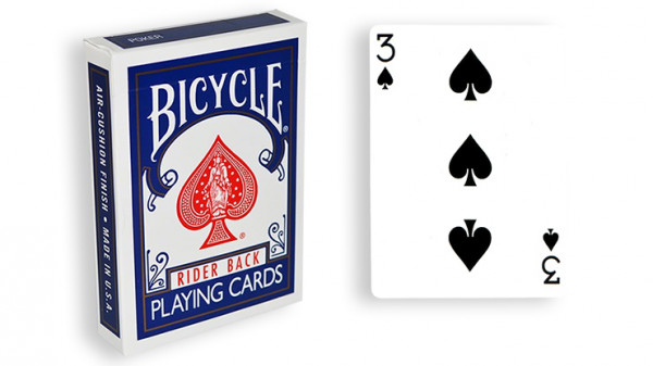 Force Deck - Blau - Pik 3 - Bicycle Forcierspiel - Forcing Cards - Forcierkarten