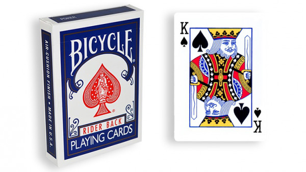 Force Deck - Blau - Pik König - Bicycle Forcierspiel - Forcing Cards - Forcierkarten