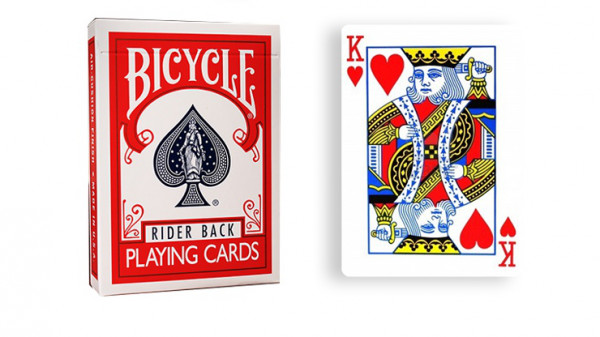 Force Deck - Rot - Herz König - Bicycle Forcierspiel - Forcing Cards - Forcierkarten