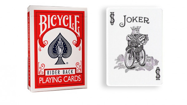 Force Deck - Rot - Joker Schwarz und Weiß - Bicycle Forcierspiel - Forcing Cards - Forcierkarten