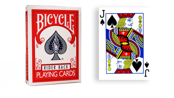 Force Deck - Rot - Pik Bube - Bicycle Forcierspiel - Forcing Cards - Forcierkarten