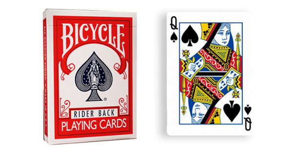 Force Deck - Rot - Pik Dame - Bicycle Forcierspiel - Forcing Cards - Forcierkarten