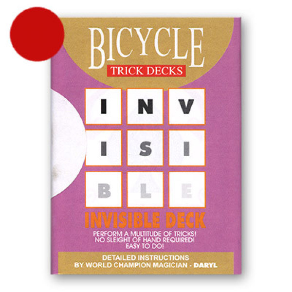 Invisible Deck Bicycle 809 Mandolin - Rot - Zaubertrick