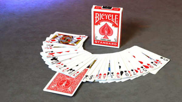 Invisible Deck Bicycle - Rot - Kartentrick
