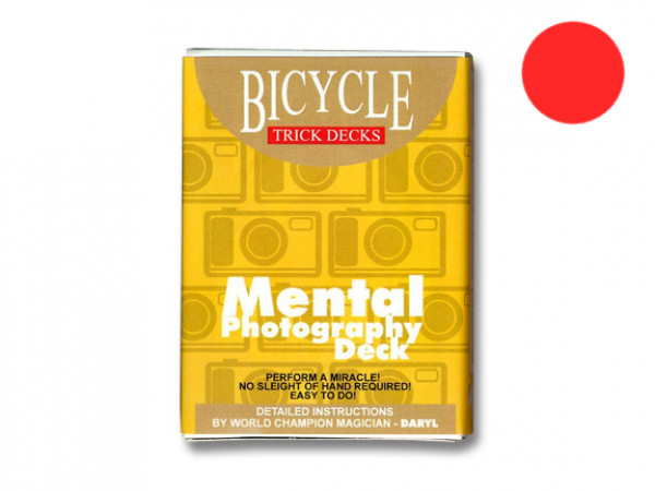 Mental Photography Deck - Rot - Bicycle - Kartentrick