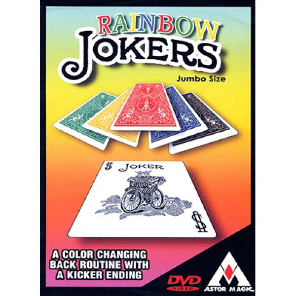 Rainbow Jokers - Bicycle Jumbo Karten und DVD