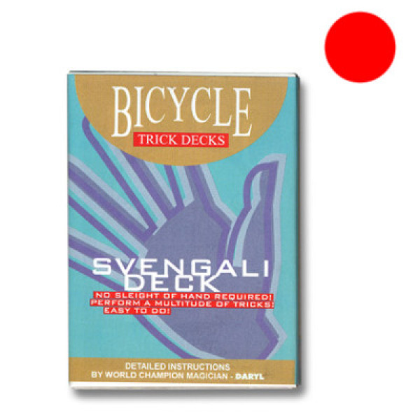 Svengali Deck Bicycle - Rot - Zaubertrick