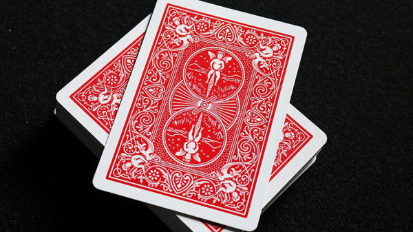 Gaff Card - (3 1/2 of Clubs) - Bicycle - Rot