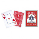 Bicycle 808 Rider Back - Rot - Jumbo Index - Pokerdeck